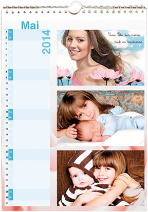 calendrier photo mural A4 personnalise 2011