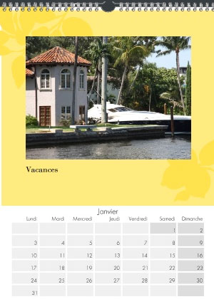calendrier mural A3 personnalise 2015