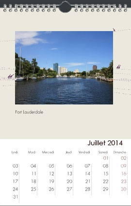 calendrier photo mural A4 personnalise