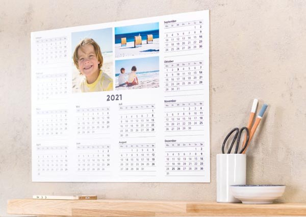 Calendrier planning for Calendrier photo mural gratuit