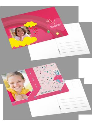 carte postale personnalisée avec photo et texte, à commander en ligne sur ComBoost par lot de 10 ...