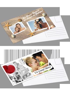 carte postale XL personnalisée avec photo et texte, en grand format panorama, à commander en ...
