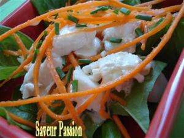 Salade lightissime au lieu et à l'oseille 