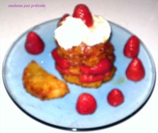 Millefeuille ananas fraise