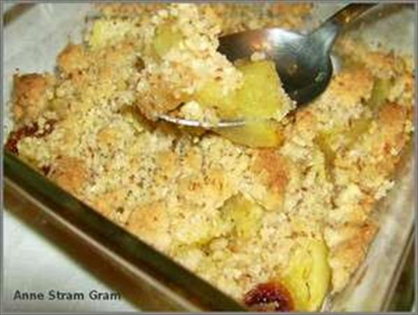 Crumble exotique à l'ananas