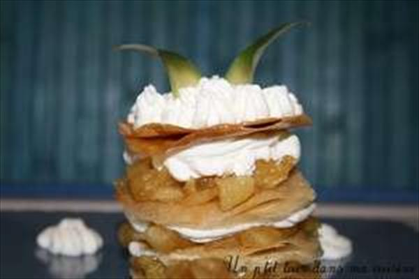 P'tit millefeuille ananas/chantilly