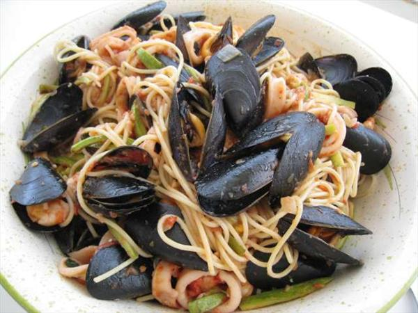 Photo: spaguettis fruits de mer