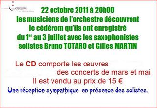 Réception CD du 22 oct 2011