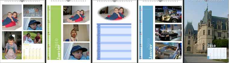 Exemple de calendrier photo