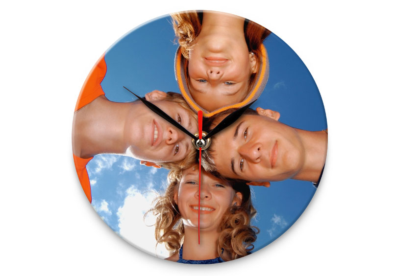 Beliebt horloge murale en verre personnalisée avec photo, à commander sur  YH24