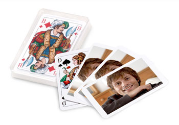 jeu de cartes avec photo