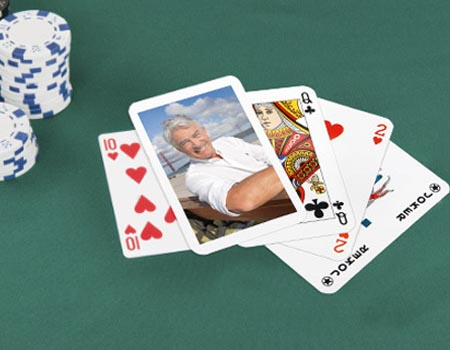 jeu de poker avec photo
