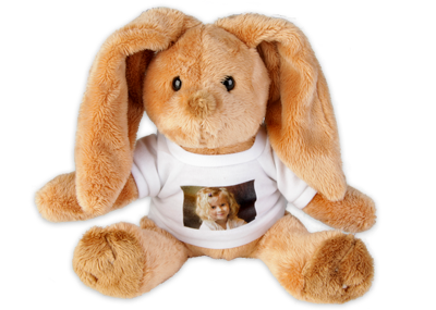 lapin en peluche avec votre photo pr f r e peluche lapin de qualit heunec avec marquage ce. Black Bedroom Furniture Sets. Home Design Ideas