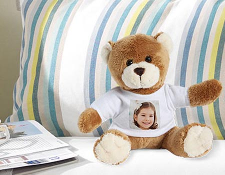 peluche ourson avec photo