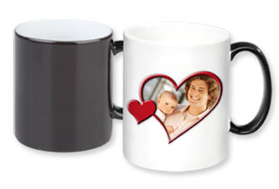 mug photo magique la photo de la tasse apparait en versant son caf chaud. Black Bedroom Furniture Sets. Home Design Ideas