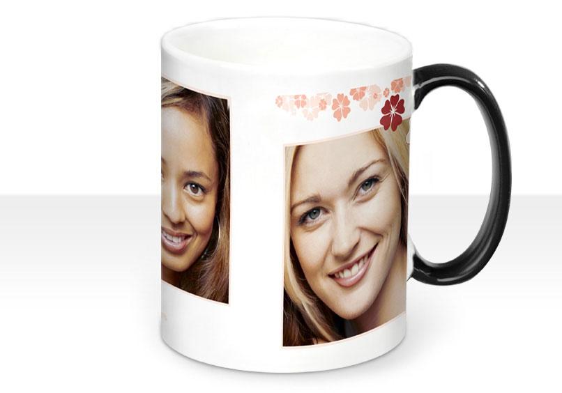 mug photo magique panorama la photo 19x8cm de la tasse apparait en versant un liquide chaud. Black Bedroom Furniture Sets. Home Design Ideas